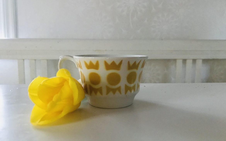 Elluyellow Arabia keltainen kahvikuppi Salla