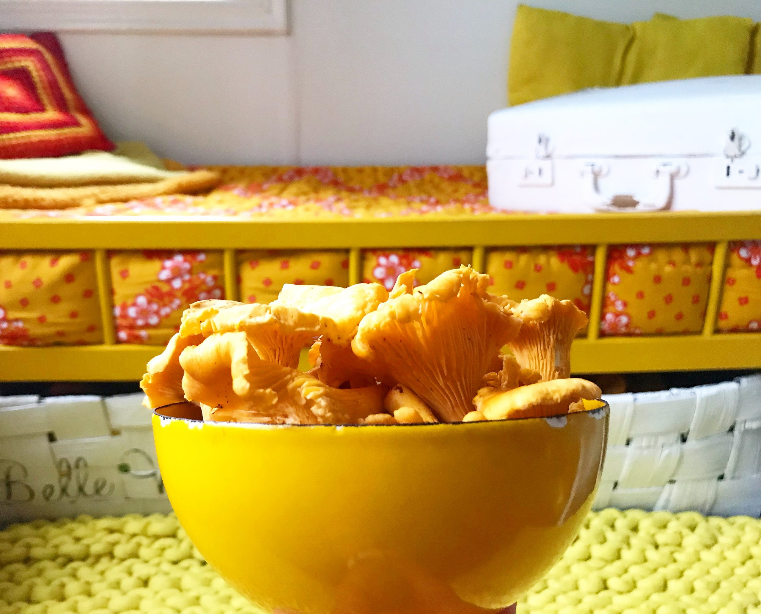 Elluyellow keltainen Suhi-matot ja kantarellt