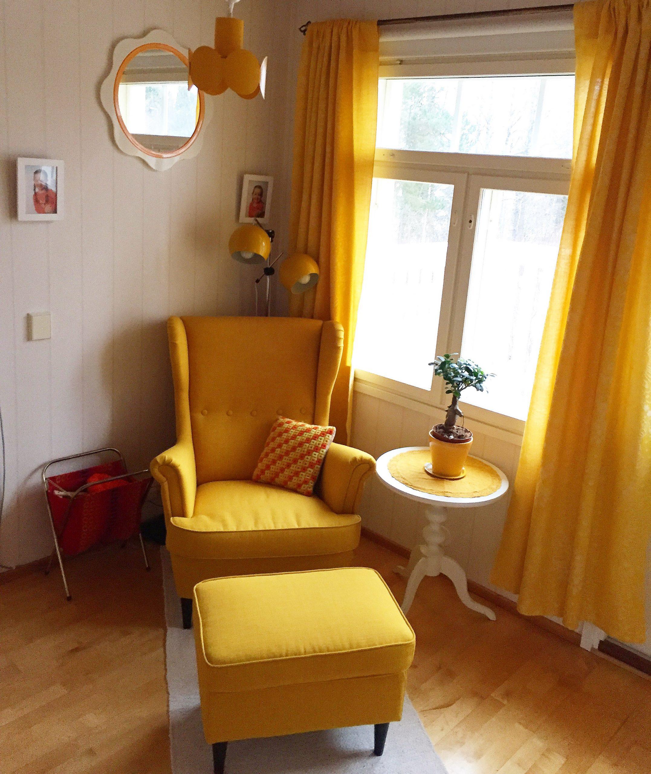 Elluyellow keltainen olohuone
