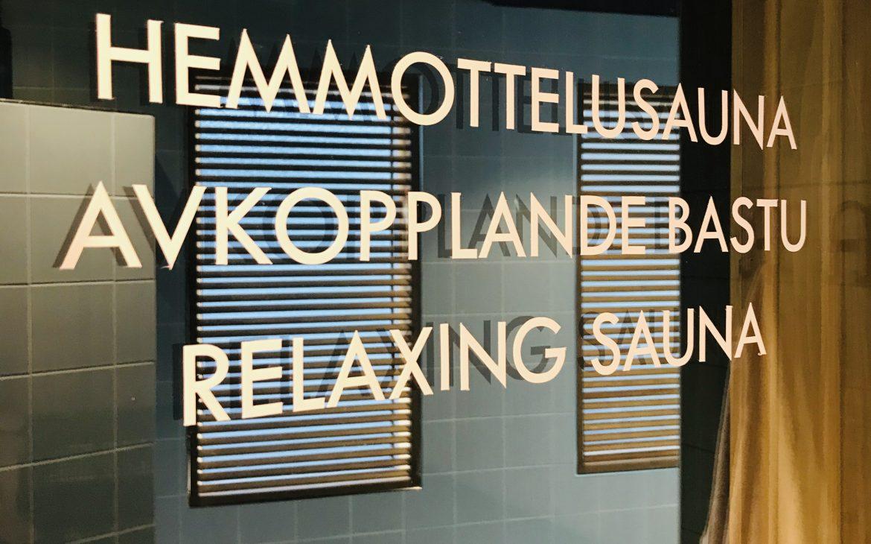 Elluyellow vierailemassa Nokian Scandic Edenissä, hemmottelusauna