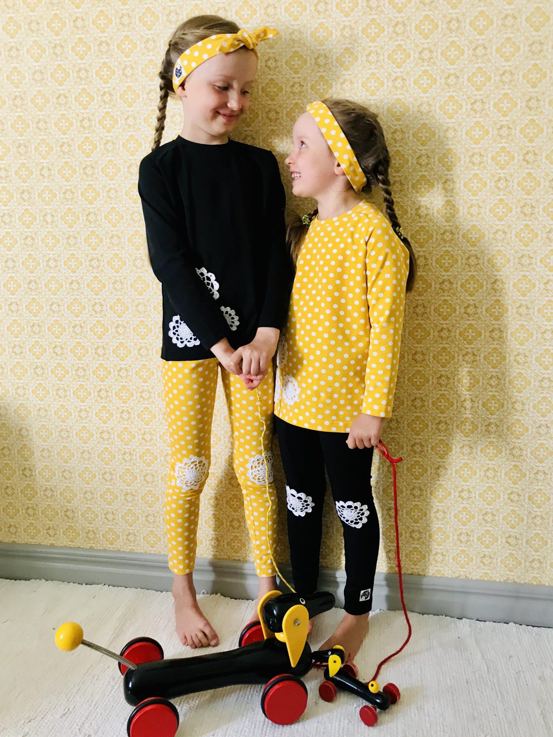 YellowQuun värikkäät vaatteet Elluyellow'n tyttärillä