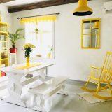 Tupamme keltainen huonekalukaruselli ja viikon kirppislöydöt