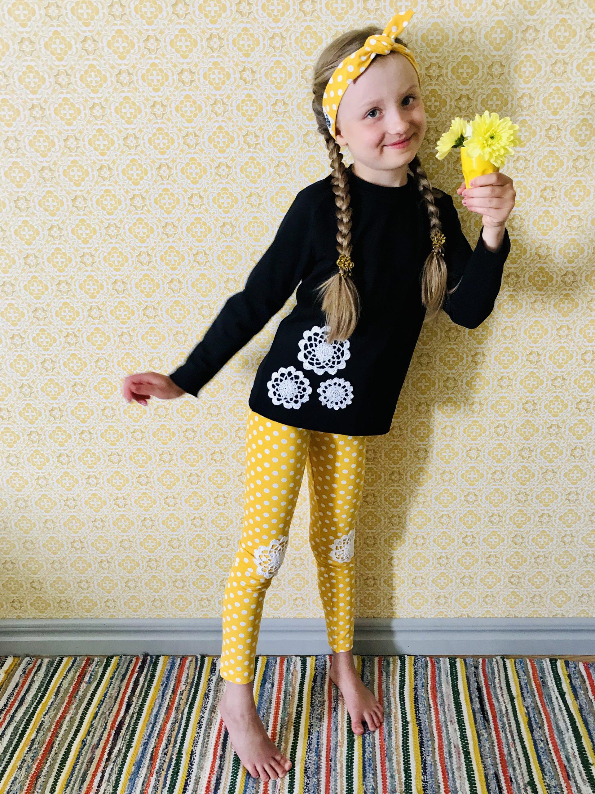 YellowQuun värikkäät kotimaiset vaatteet Elluyellow'n tyttärellä
