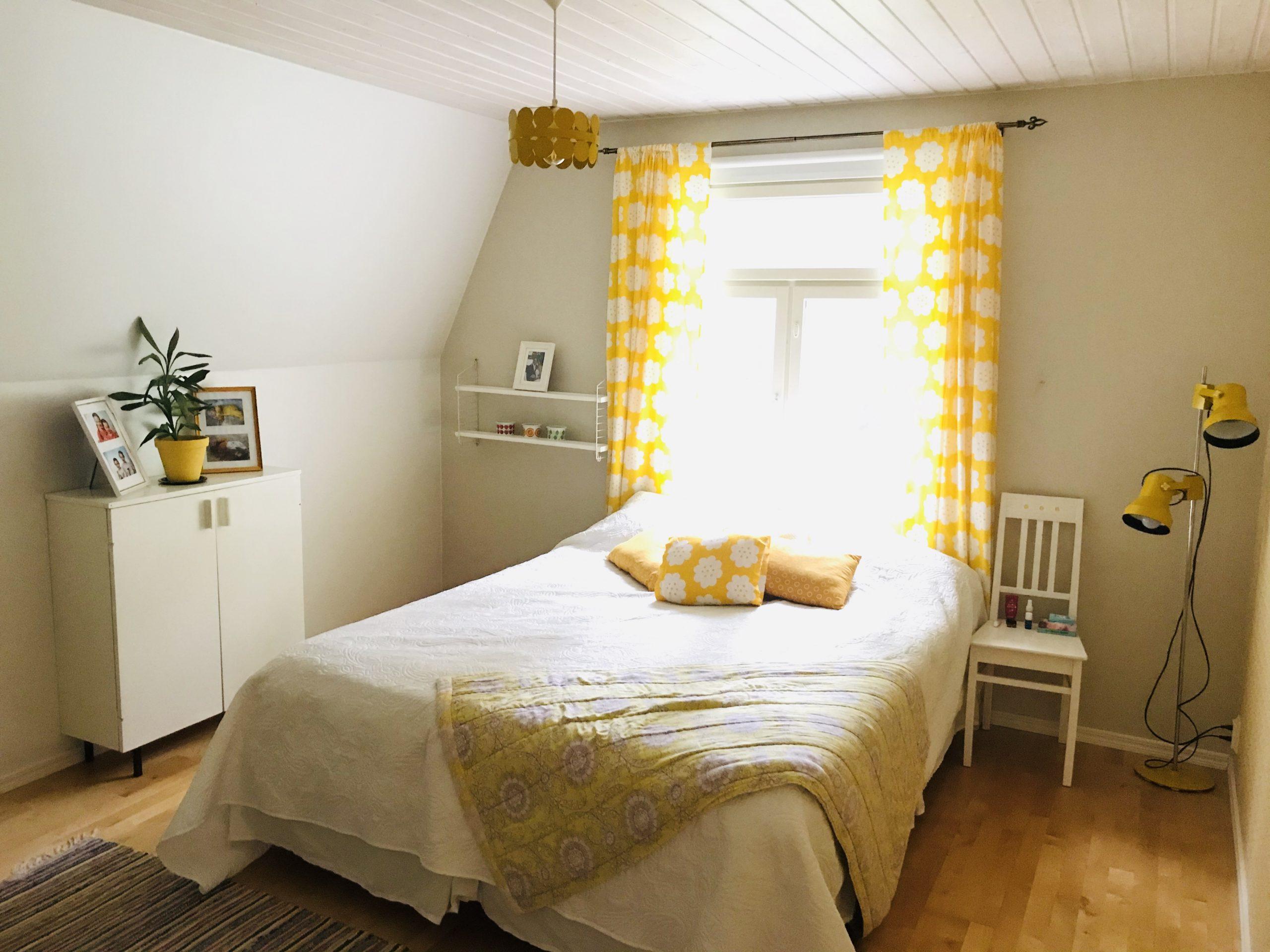Eluyellow keltainen vintage makuuhuone