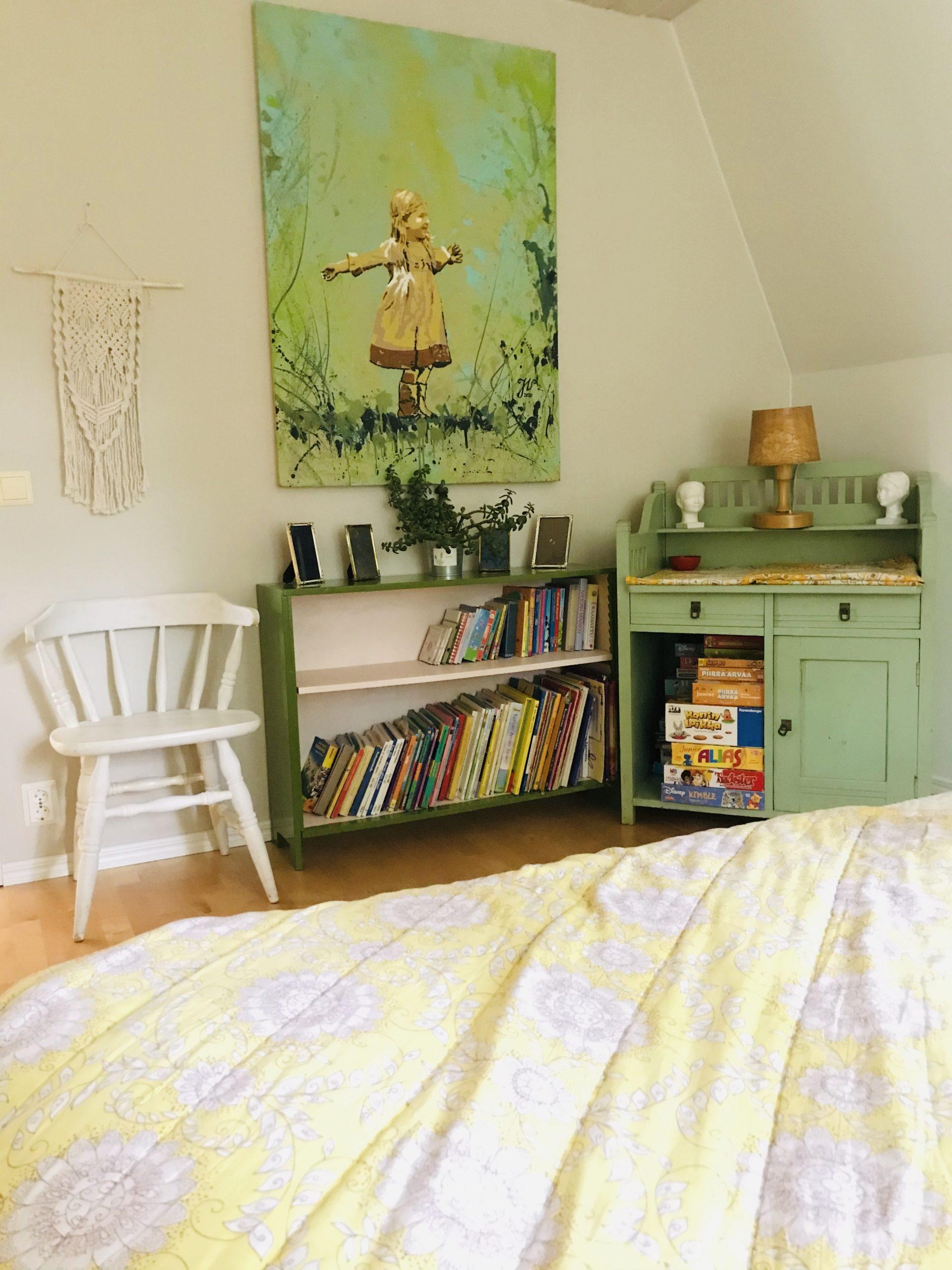Elluyellow tunnelmallinen vintage makuuhuone